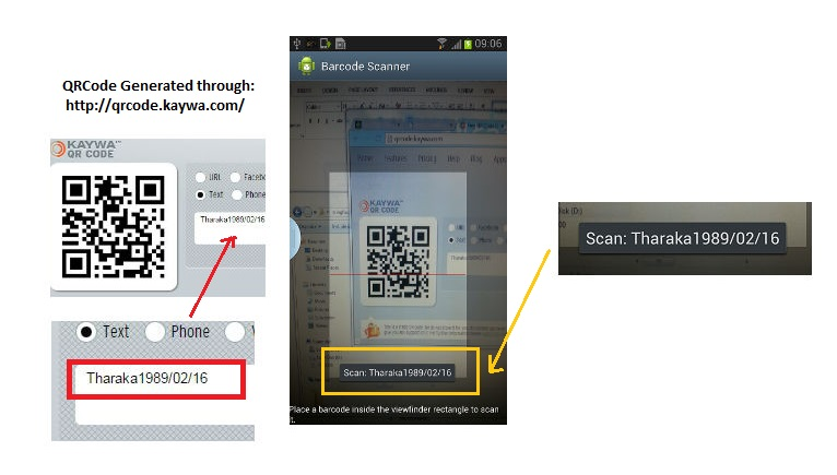 "QR/Bar-code Scanner using ""Zxing Fragment Library"" 