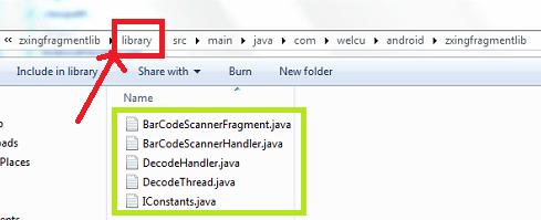"""QR/Bar-code Scanner using """"Zxing Fragment Library""""   Tech Star"""
