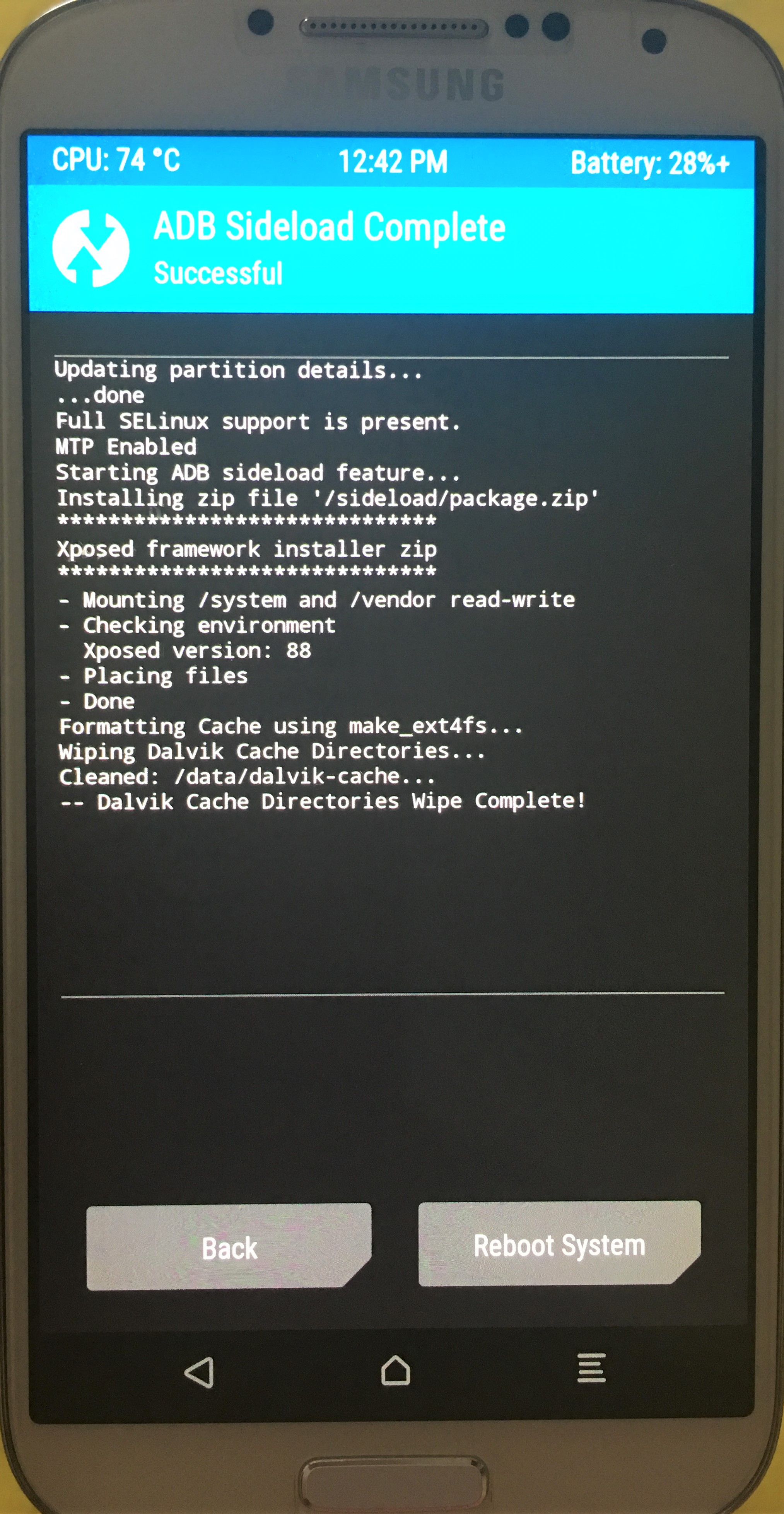 Flashing Unofficial AOKP Nougat (Android 7 1 2) and Xposed